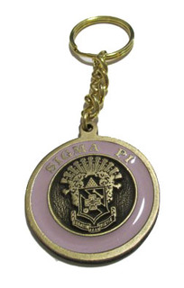 Sigma Pi Metal Fraternity Key Chain