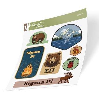 Sigma Pi Outdoor Sticker Sheet