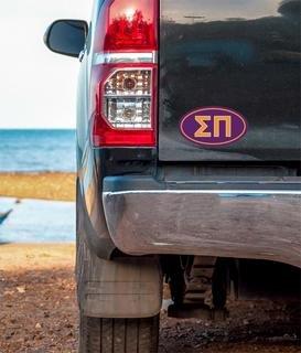 Sigma Pi Oval Fraternity Car Magnet Set of 2