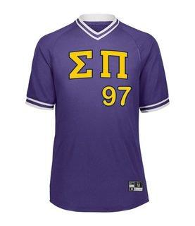 Sigma Pi Retro V-Neck Baseball Jersey