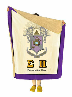 Sigma Pi Sherpa Lap Blanket