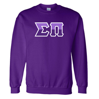 Sigma Pi Two Tone Greek Lettered Crewneck Sweatshirt