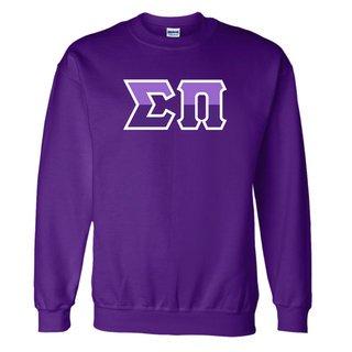 Sigma Pi Two Tone Greek Lettered Crewneck Sweatshirt