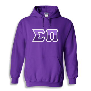 Sigma Pi Two Tone Greek Lettered Hooded Sweatshirt