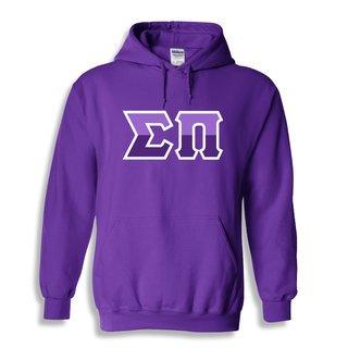 Sigma Pi Two Tone Greek Lettered Hooded Sweatshirt