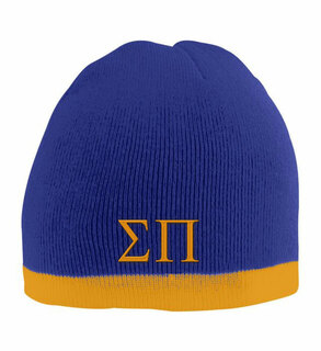 Sigma Pi Two Tone Knit Beanie
