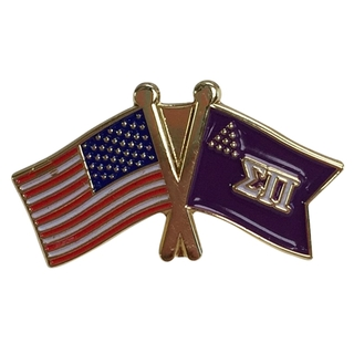 Sigma Pi USA Flag Lapel Pin