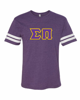 Sigma Pi World Famous Greek Twill Football Fine Jersey Tee