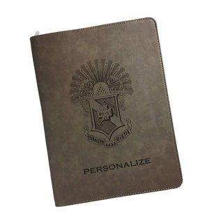 Sigma Pi Zipper Leatherette Portfolio with Notepad