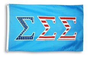 Sigma Sigma Sigma 3 X 5 USA Flag