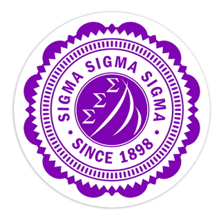 "Sigma Sigma Sigma 5"" Sorority Seal Bumper Sticker"