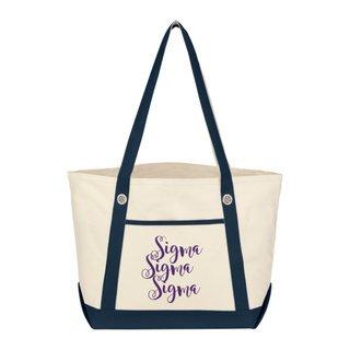 Sigma Sigma Sigma Sailing Tote Bag