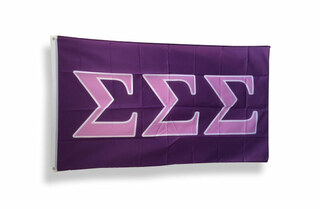 Sigma Sigma Sigma Big Greek Letter Flag
