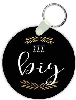 Sigma Sigma Sigma Big Sister Keychain