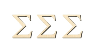 Sigma Sigma Sigma Big Wooden Greek Letters