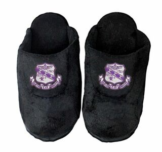 DISCOUNT-Sigma Sigma Sigma Black Solid Slipper