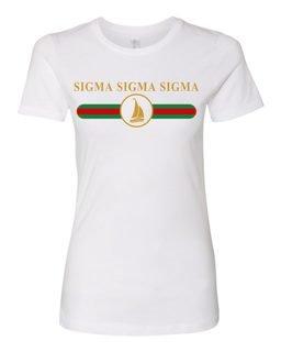 Sigma Sigma Sigma Boyfriend Golden Crew Tee