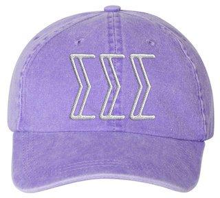 Sigma Sigma Sigma Carson Greek Letter Hats