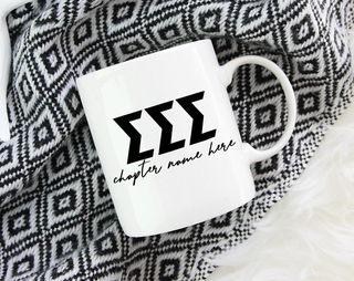 Sigma Sigma Sigma Chapter Mug
