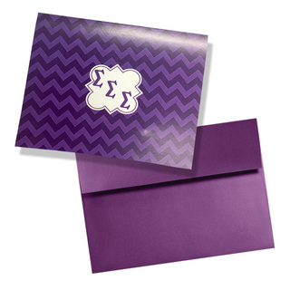 Sigma Sigma Sigma Chevron Note Cards w/ Envelopes (10)