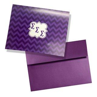 Sigma Sigma Sigma Chevron Note Cards w/ Envelopes (10)