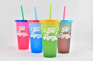 Sigma Sigma Sigma Color Changing Cups (Set of 4)