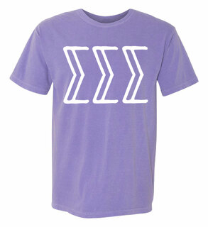 Sigma Sigma Sigma Comfort Colors Heavyweight Design T-Shirt