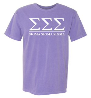 Sigma Sigma Sigma Comfort Colors Heavyweight T-Shirt