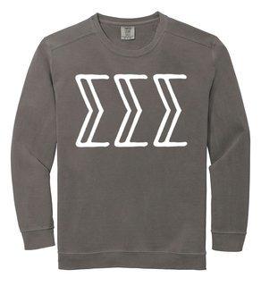 Sigma Sigma Sigma Comfort Colors Greek Crewneck Sweatshirt