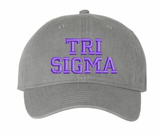 Sigma Sigma Sigma Comfort Colors Pigment Dyed Baseball Cap