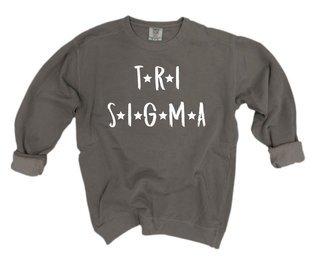 Sigma Sigma Sigma Comfort Colors Starry Night Crew