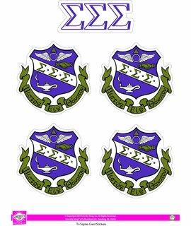 Sigma Sigma Sigma Crest Sticker Sheet