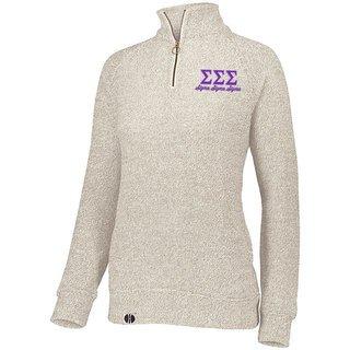 Sigma Sigma Sigma Cuddly 1/4 Zip Pullover
