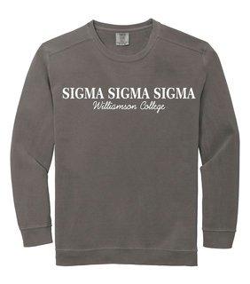 Sigma Sigma Sigma Script Comfort Colors Greek Crewneck Sweatshirt