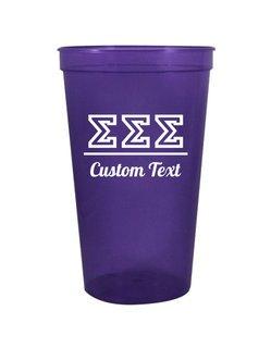 Sigma Sigma Sigma Custom Greek Collegiate Stadium Cup