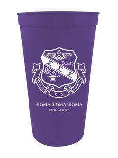 Sigma Sigma Sigma Custom Greek Crest Letter Stadium Cup