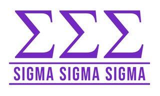 Sigma Sigma Sigma Custom Sticker - Personalized