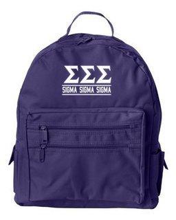 Sigma Sigma Sigma Custom Text Backpack