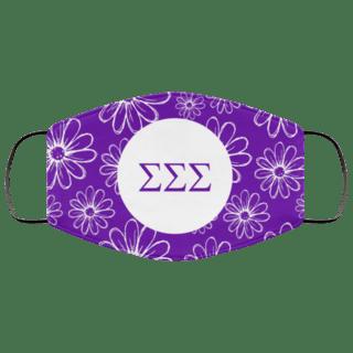 Sigma Sigma Sigma Daisies Face Mask