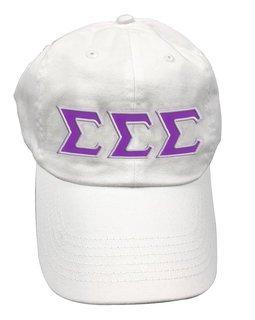 Sigma Sigma Sigma Double Greek Letter Cap