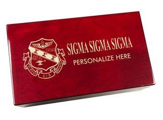 Sigma Sigma Sigma Engraved Gavel Set