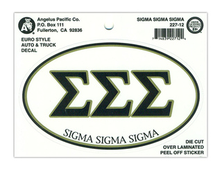 Sigma Sigma Sigma Euro Style Sticker