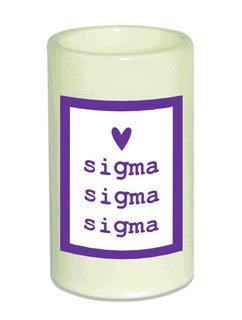Sigma Sigma Sigma Flameless Candle