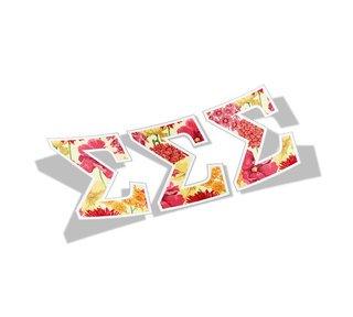 Sigma Sigma Sigma Floral Greek Letter Sticker