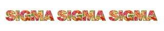 "Sigma Sigma Sigma Floral Long Window Sticker - 15"" long"
