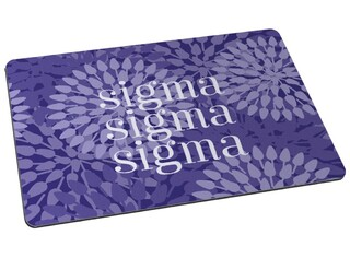 Sigma Sigma Sigma Floral Mousepad