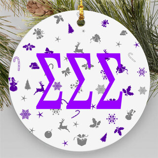 Sigma Sigma Sigma Holiday Cheer Ornaments
