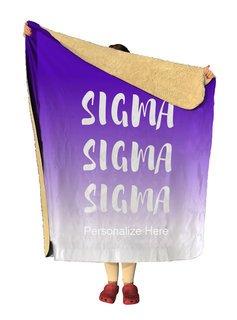 Sigma Sigma Sigma Gradient Sherpa Lap Blanket