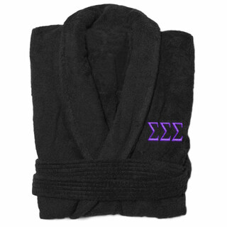Sigma Sigma Sigma Greek Letter Bathrobe