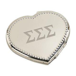 Sigma Sigma Sigma Heart Shaped Classic Compact